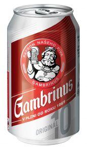 Gambrinus 10° 0,33l Plech